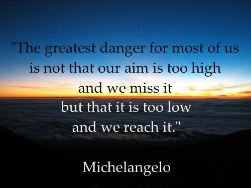 inspirational-quote-michelangelo-sunrise